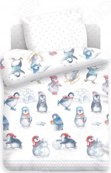 Ясельный комплект постельного белья Непоседа «Пингвинята» Непоседа - артикул: 896447