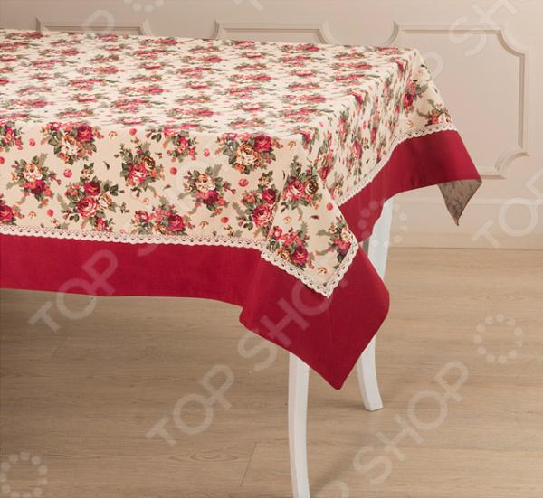 Скатерть Santalino «Розовый сад» 850-833-2 сидушка на стул santalino райский сад 850 818 5