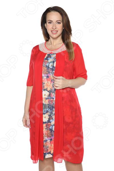 Платье Blagof Платье «Жемчуг». Цвет: красный