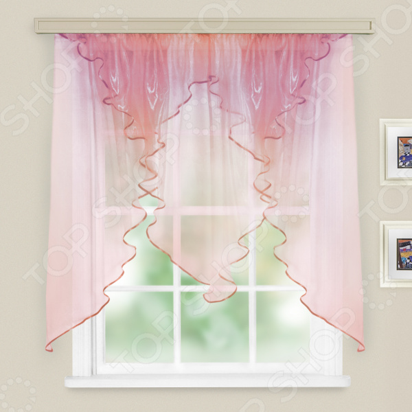 Тюль WITERRA «Трио. Хамелеон». Цвет: розовый, синий