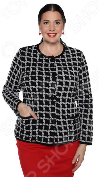 Жакет Milana Style «Осенний вальс». Цвет: серый жакет milana style цвет молочный
