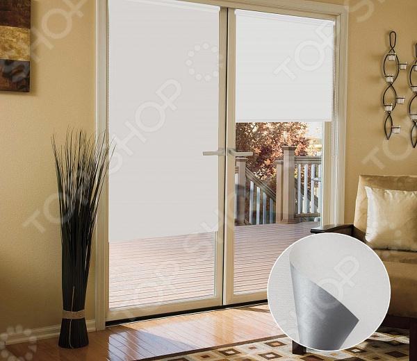 Миниролло блэкаут Эскар для балконной двери светонепроницаемый