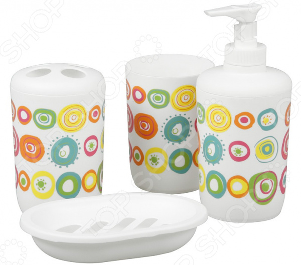 Набор для ванной комнаты из 4 предметов Rosenberg RPL-350007-4