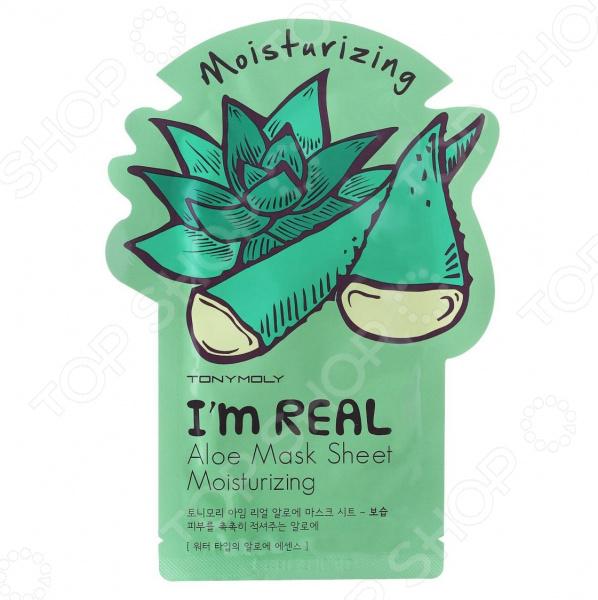 Маска тканевая для лица TONY MOLY I Am Real увлажняющая «Алое» тканевые маски и патчи tony moly тканевая маска с экстрактом алое daily fresh 150г 1 10шт