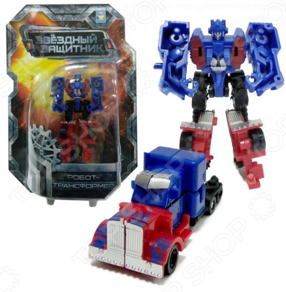 Игрушка-трансформер 1 Toy «Звездный защитник» Т59372 трансформер 1 toy звездный защитник космолет красный черный