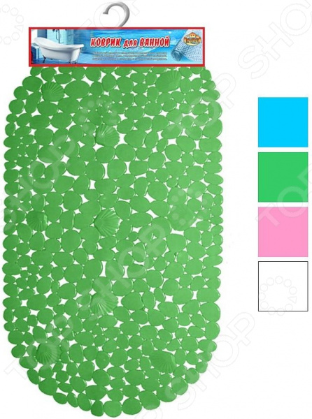 Коврик для ванной Мультидом «Камушки с ракушками». В ассортименте коврик универсальный мультидом fj87 85 в ассортименте