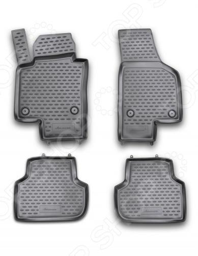 Комплект ковриков в салон автомобиля Novline-Autofamily Volkswagen Jetta 2011 комплект 3d ковриков в салон автомобиля novline autofamily volkswagen touareg 2010 2015 2015