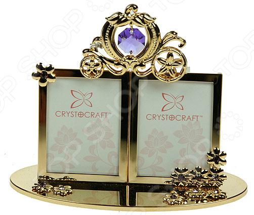 Фоторамка Crystocraft «Карета Принцессы» с кристаллами Swarovski 67507