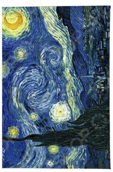 Обложка для автодокументов кожаная Mitya Veselkov «Ван Гог. Звездная ночь» mitya veselkov обложка для автодокументов ван гог портрет