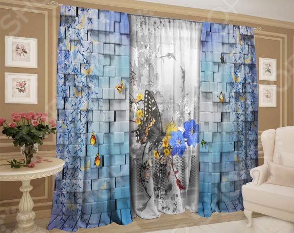 Фотокомплект: тюль и шторы ТамиТекс «Сладкая жизнь» комплект шторы и тюль мартекс фиолетовый сад