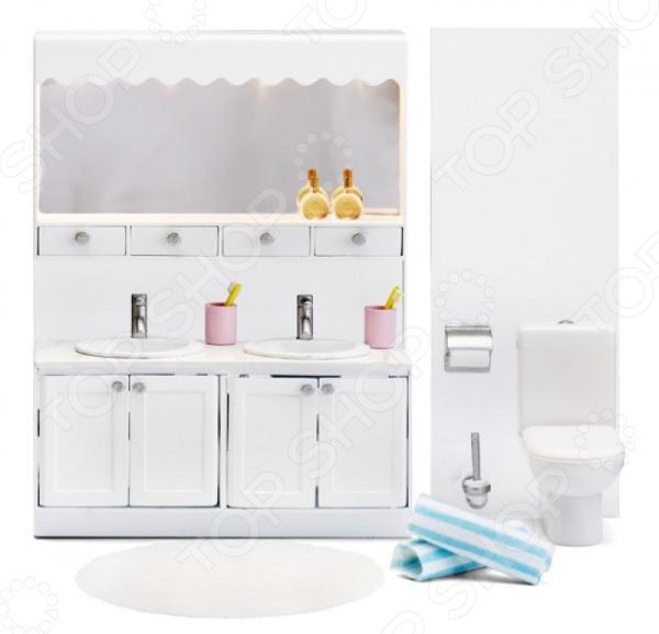 Мебель для куклы Lundby «Смоланд. Ванная с 2 раковинами»