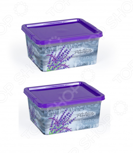 Набор контейнеров прямоугольных Полимербыт «Прованс» kitchenaid набор прямоугольных чаш для запекания 0 45 л 2 шт красные