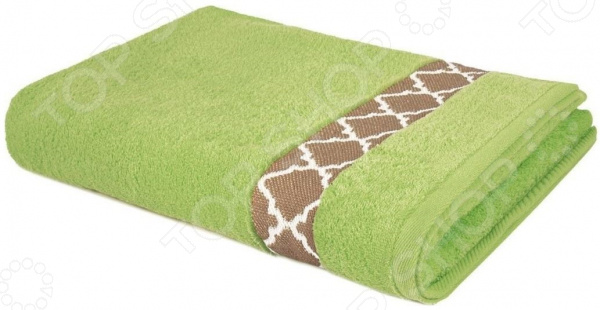 Полотенце махровое Aquarelle «Таллин вид 1». Цвет: травяной полотенце махровое aquarelle таллин 1 цвет ваниль 50 х 90 см 707762