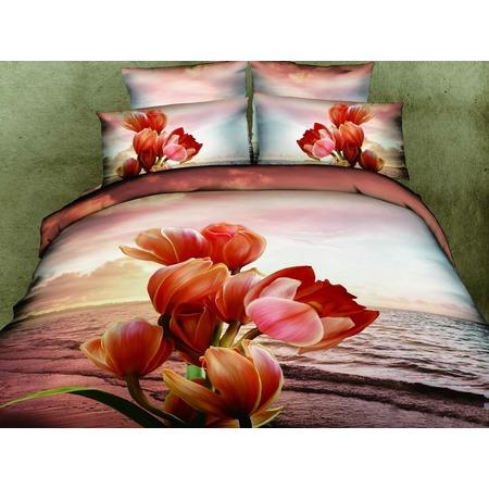 Купить Комплект постельного белья Mango «Тюльпаны». 2-спальный
