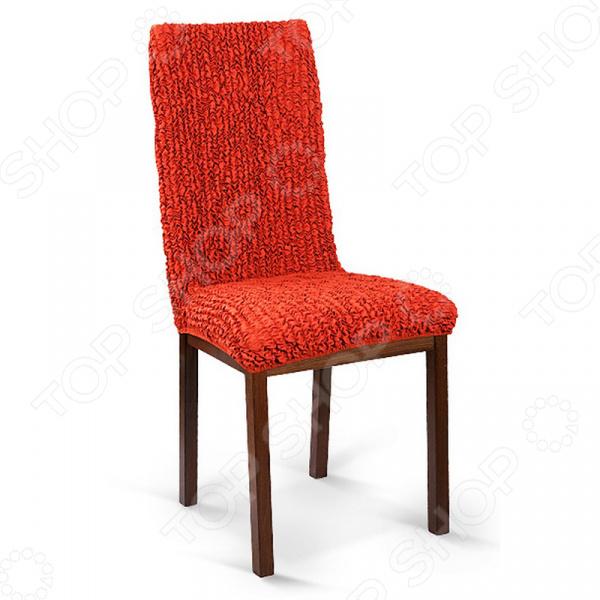 Натяжной чехол на стул Еврочехол Еврочехол «Микрофибра. Терракотовый»