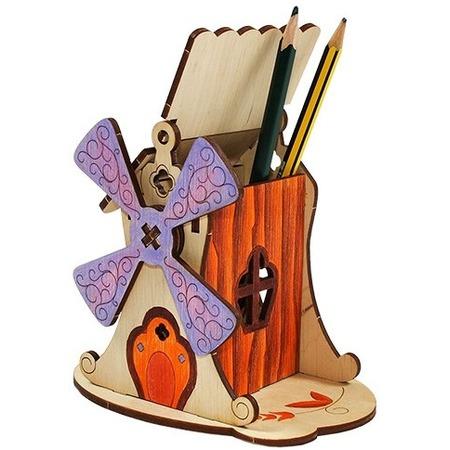 Купить Конструктор деревянный WOODY «Мельница»
