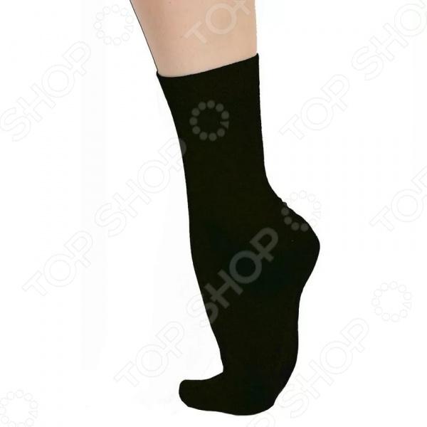 Носки из хлопка с наночастицами серебра. Цвет: черный