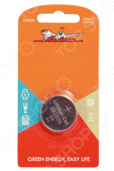 Элемент питания Airline CR2025-01 3v cr2025 cell button batteries 5 piece pack