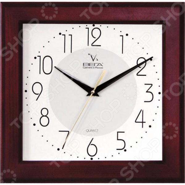 Zakazat.ru: Часы настенные Вега Д 4 КД/7 30 «Красное дерево. Арабская классика»