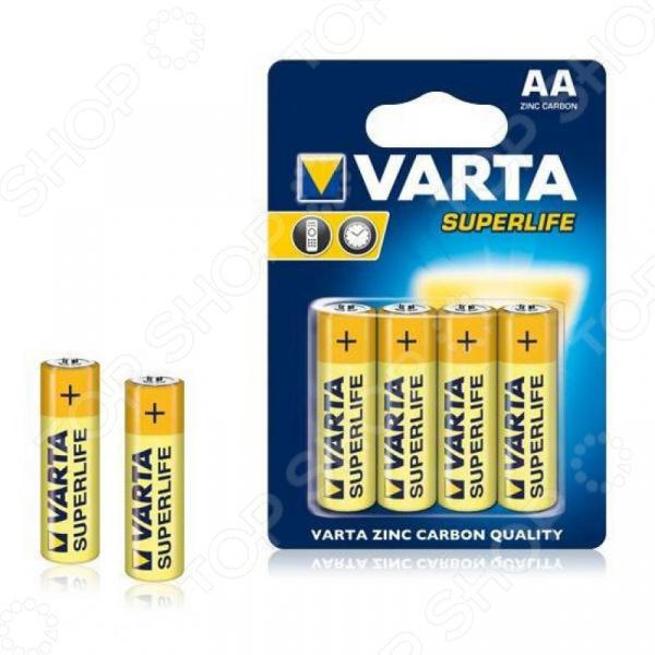 Элемент питания VARTA Superlife AA бл 4 элемент питания varta v 390 бл 1