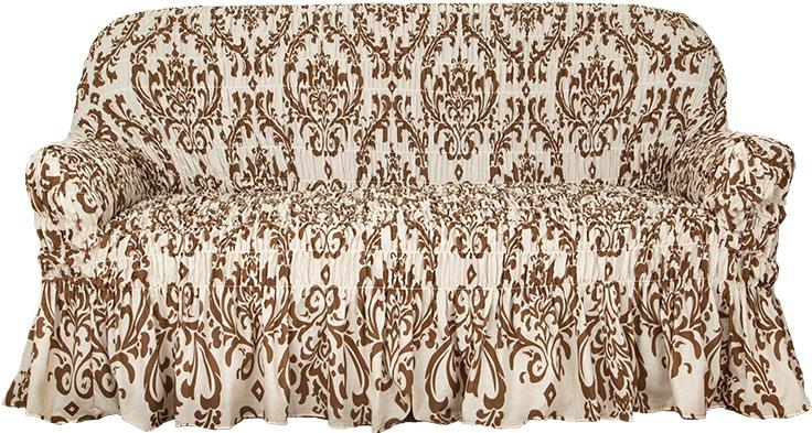 Натяжной чехол на трехместный диван Еврочехол «Фантазия. Венеция»