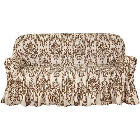 Купить Натяжной чехол на трехместный диван Еврочехол «Фантазия. Венеция»