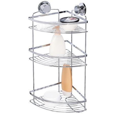 Купить Полка для ванной угловая Tatkraft Vacuum Screw Gunter