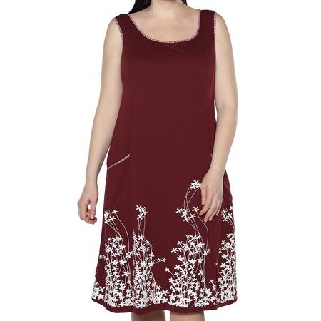 Купить Платье Алтекс «Цветущий сад». Цвет: бордовый