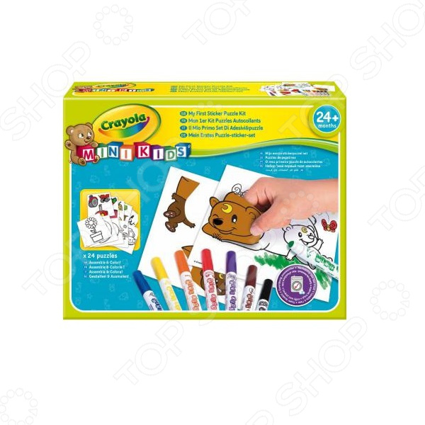 Набор для раскрашивания Crayola «Мой первый пазл с наклейками»