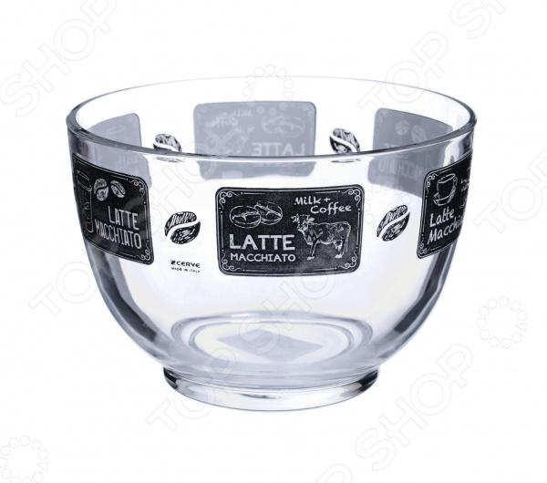 Салатник Cerve «Кофейня» салатница cerve кофейня цвет прозрачный черный 690 мл