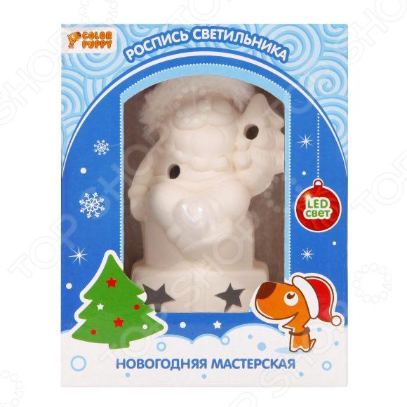 Роспись новогоднего светильника Color Puppy «Дед Мороз в колпаке» bondibon набор для творчества волшебный дед мороз