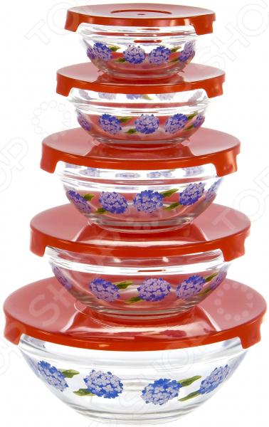Набор салатников OlAff AX-5SB-R-02 набор салатников olaff с крышками 5 шт ax 5sb r 02