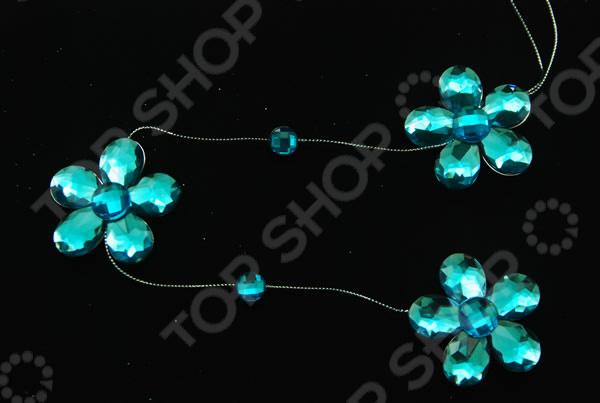 Бусы елочные Crystal Deco «Цветочек» Бусы елочные Crystal Deco «Цветочек» /Голубой