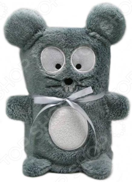 Мягкая игрушка-плед «Серый мышонок»