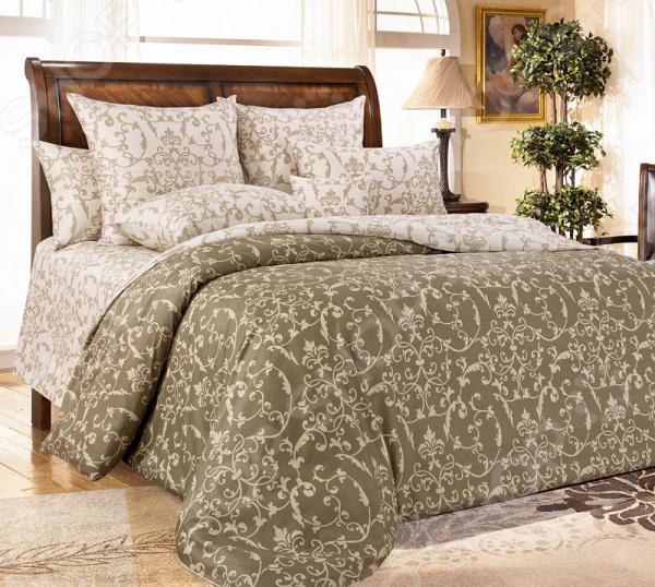 Комплект постельного белья Королевское Искушение «Вирджиния». Тип ткани: сатин