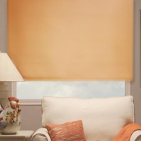 Купить Рулонная штора Эскар однотонная. Цвет: абрикосовый