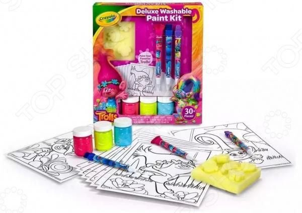 Набор для рисования Crayola с красками «Тролли Делюкс» Набор для рисования Crayola с красками «Тролли Делюкс» /
