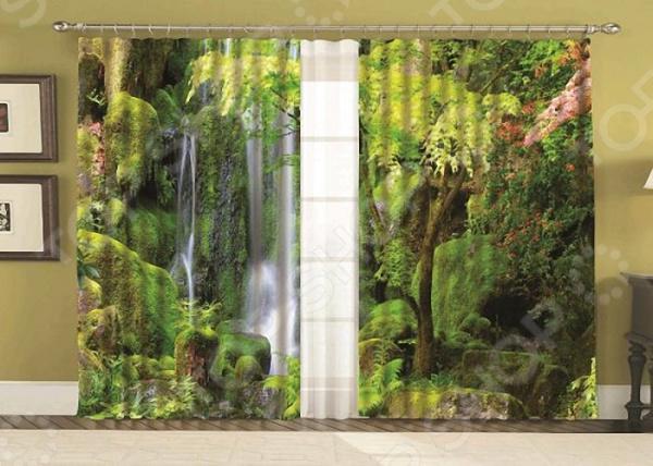Комплект фотоштор с тюлем «Водопад»