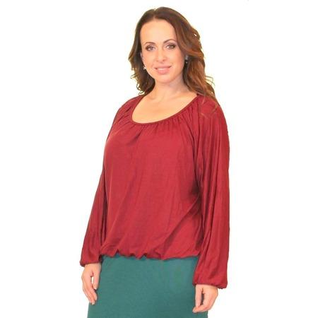 Купить Блуза Матекс «Клюква». Цвет: бордовый