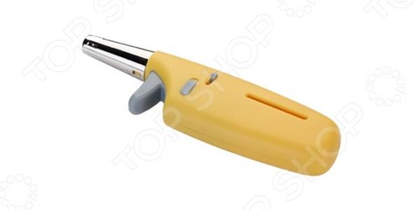 Зажигалка газовая компактная Tescoma Presto подходит для включения газовых плит, духовых шкафов, гриль и пр. Интенсивность пламени можно изменять специальным регулятором, передвигая бегунок от положения  к - , или наоборот. Заправляются газом, как и обычные зажигалки. Для дополнительной безопасности изделие оснащено специальным предохранителем, блокирующим включение. Компактные размеры позволяют удобно хранить зажигалку, а также брать ее с собой в походы или поездки за город.