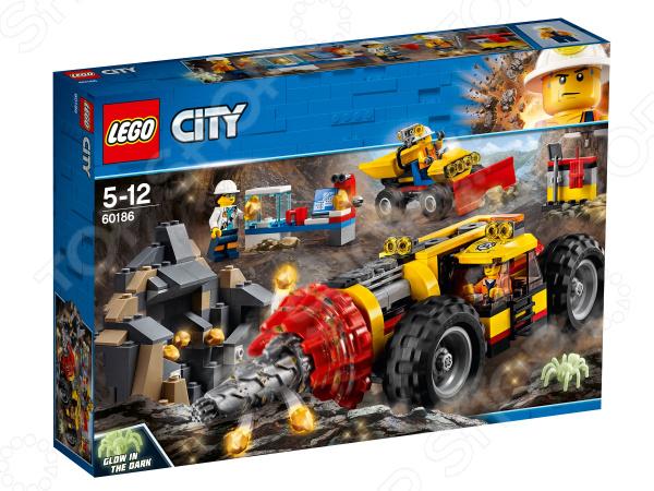 Конструктор игровой для ребенка LEGO City Mining «Тяжелый бур для горных работ» конструктор lepin cities тяжелый бур для горных работ 329 дет 02101