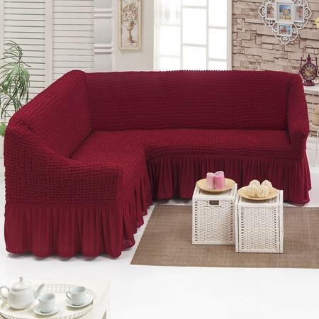 Купить Натяжной чехол на угловой диван Karbeltex