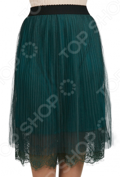 Юбка Milana Style «Ведея». Цвет: зеленый