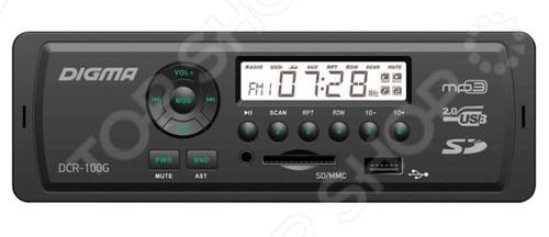 Автомагнитола Digma DCR-100G cebu 100g