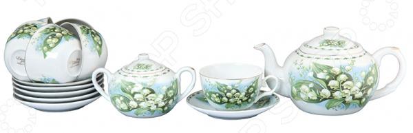 Чайный набор Elan Gallery «Ландыши» 730507