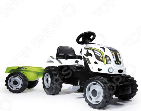 Машина-каталка Smoby «Трактор педальный XL с прицепом»