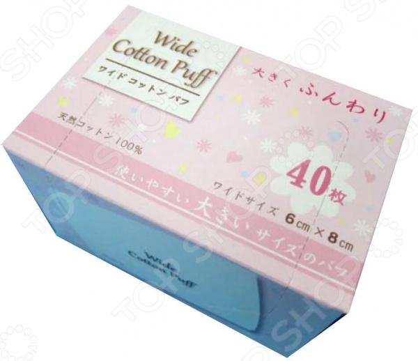 Подушечки ватные Kyowa Wide Cotton Puff maneki подушечки ватные косметические lovely прямоугольные с пресс линиями 80 шт