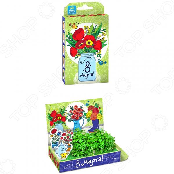 Набор подарочный для выращивания Happy Plants «Живая открытка: Маки» арт дизайн подарочный набор открытка с ручкой частная собственность