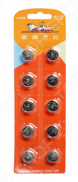 Набор батареек щелочных Airline AG13/LR44 набор батареек щелочных airline ag12 lr43
