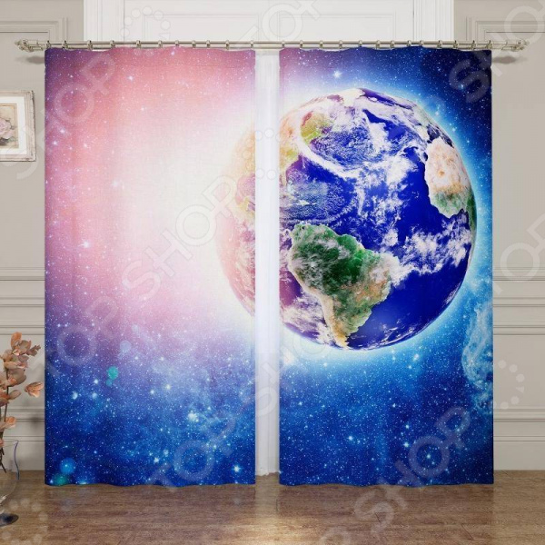Фотошторы Сирень «Земля в лучах солнца» комплект фототюлей сирень земля в лучах солнца на ленте высота 260 см